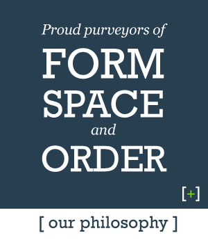 Icon Our Philosophy -  Proud purveyors of form space and order